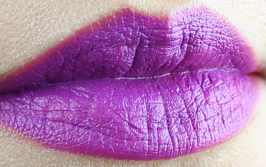 Maybelline Creamy Mattes Lipstick Vibrant Violet Swatch