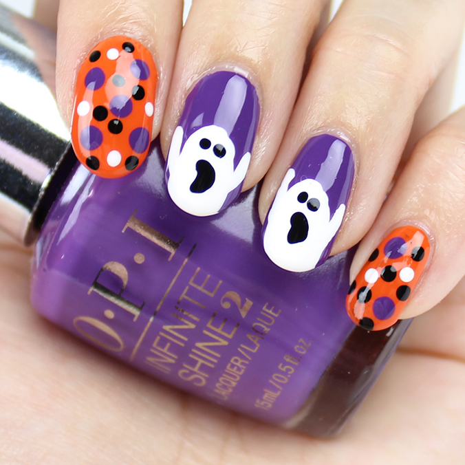 Ghost Nail Art Nails