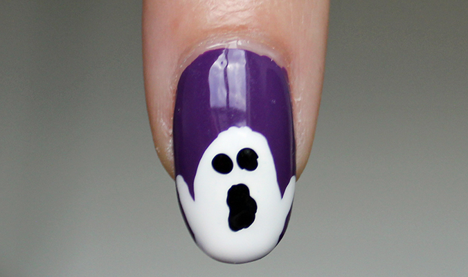 Ghost Nail Art for Halloween