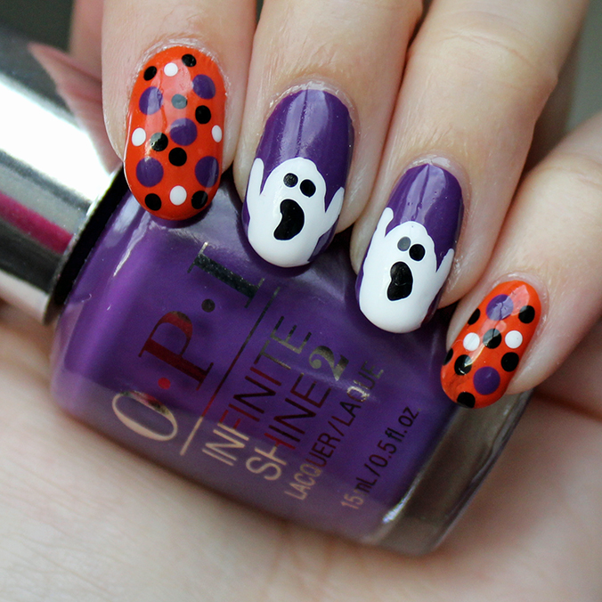 Halloween Nails OPI Infinite Shine Purpletual Emotion