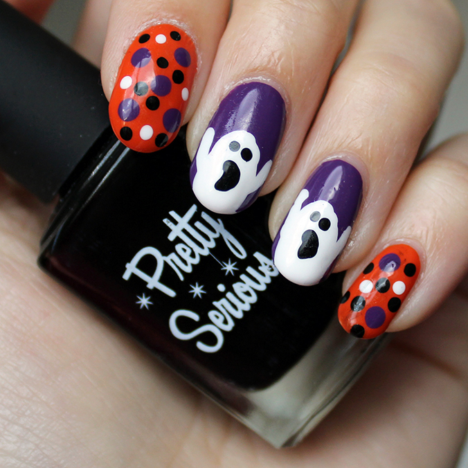 Pretty Serious Absence Ghost Nail Art