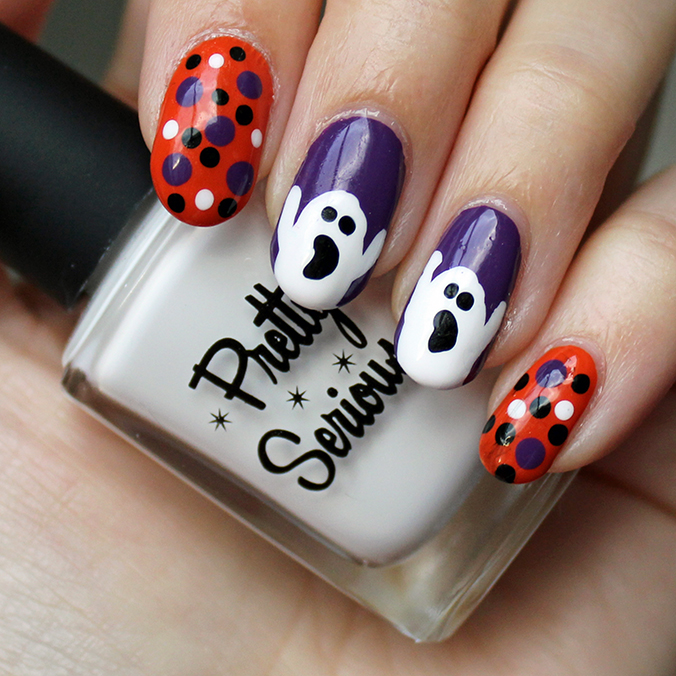 Pretty Serious Presence Ghost Nails