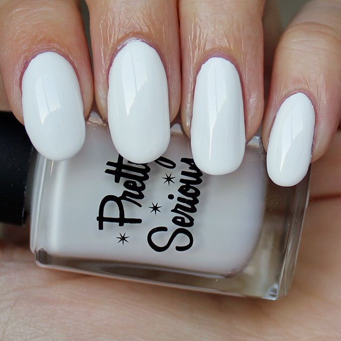 Pretty Serious Presence White Mani