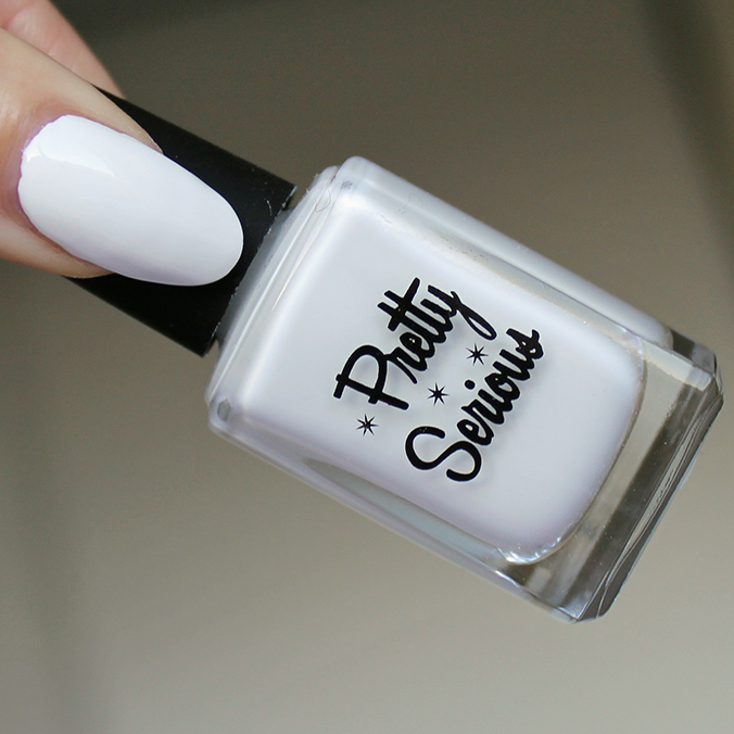 Pretty Serious Presence White Nail Polish