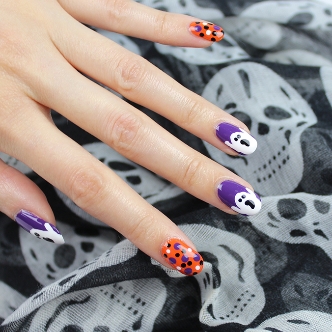 Spooky Ghost Nail Art