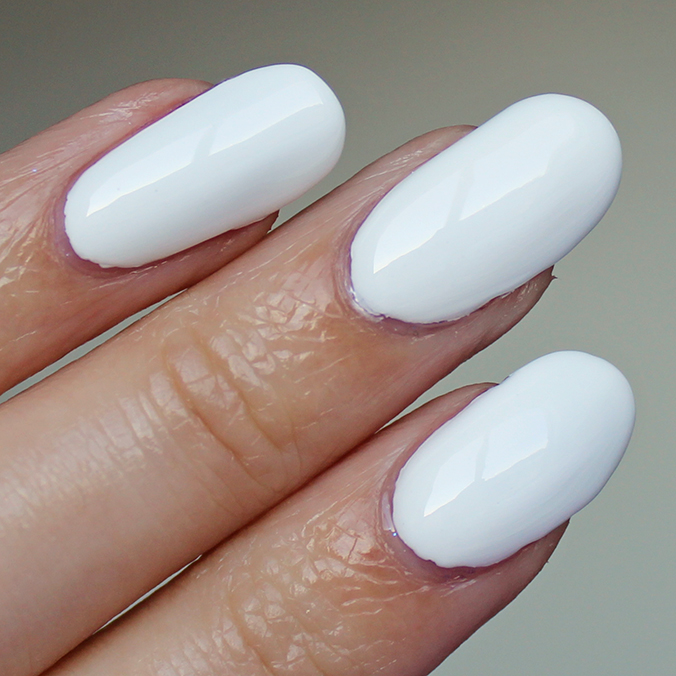 White Nails Pretty Serious Presence