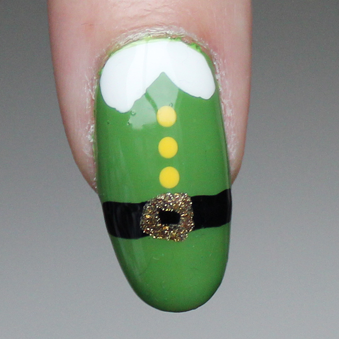 Christmas Elf Nail Art