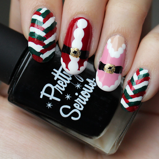 Easy Christmas Nail Art