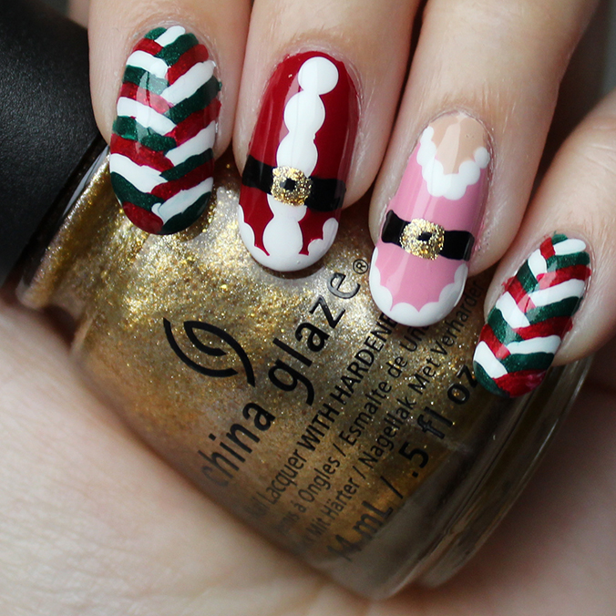 Kris Kringle Nail Art