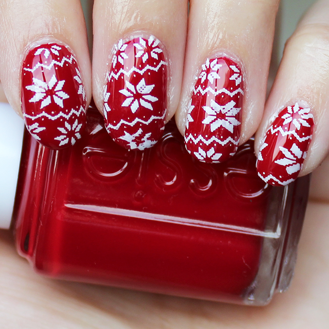 MoYou London Nail Art Ugly Christmas Sweater Nails