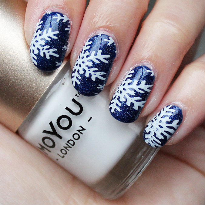MoYou Nail Art Snowflake Nails