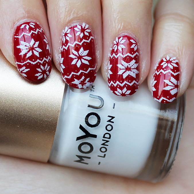 MoYou Nail Art Ugly Christmas Sweater Mani