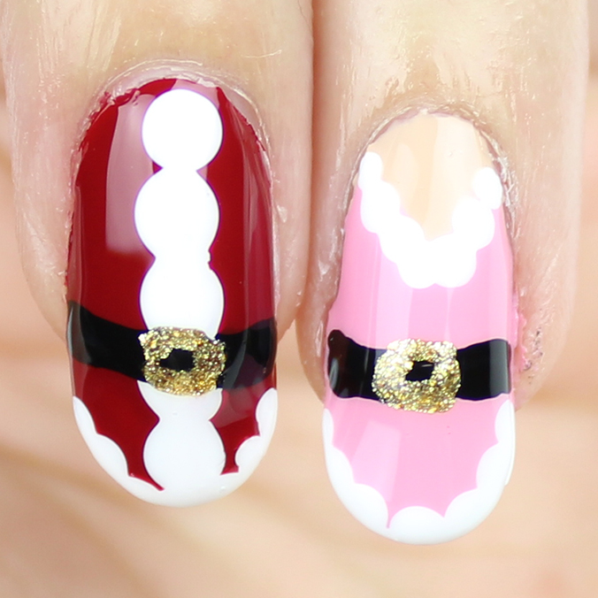 Mr & Mrs Claus Nail Art