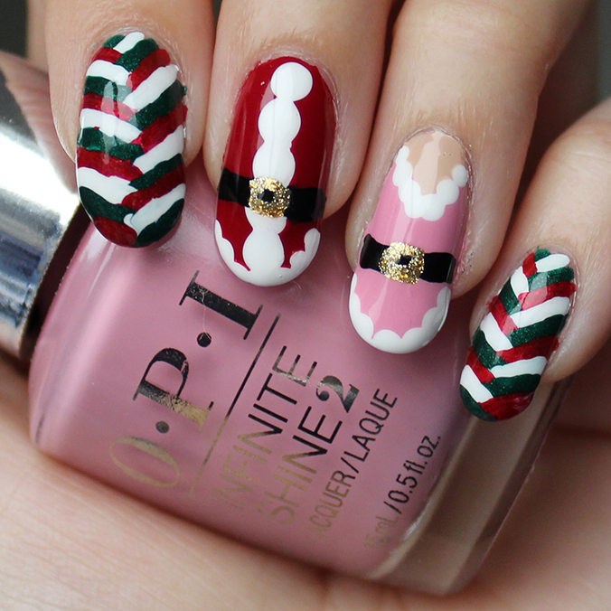 Mrs Claus Nail Art Nails