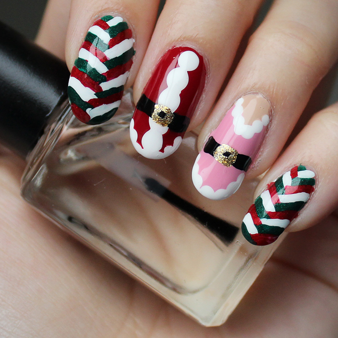 Santa Mrs Claus Elf Nail Art