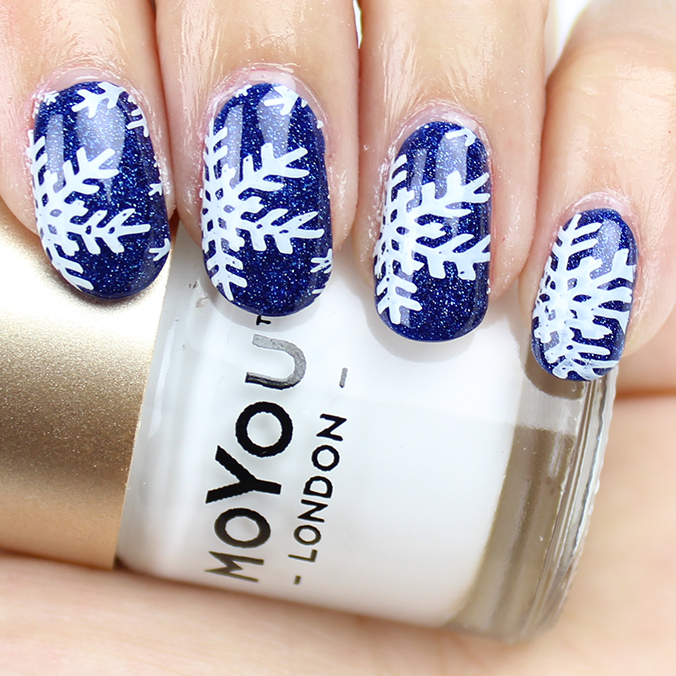Snowflake Nails Nail Art
