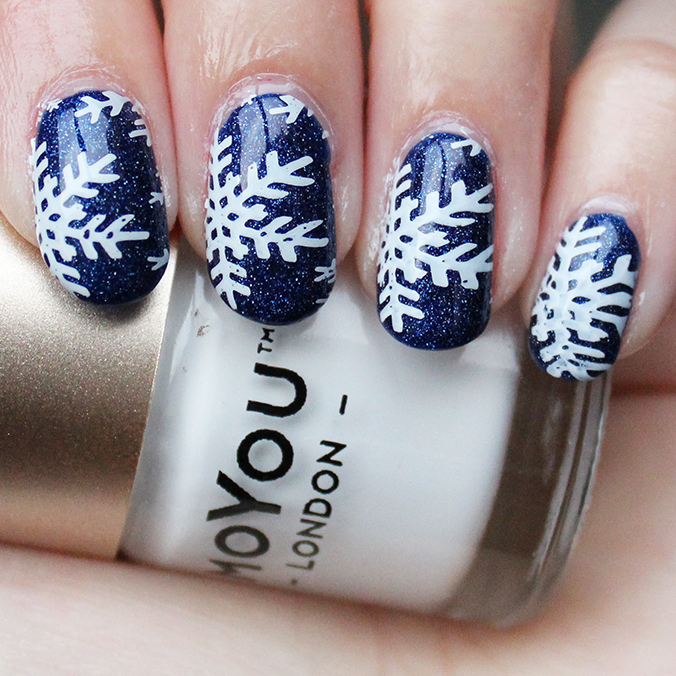 Snowflakes Nails Nail Art