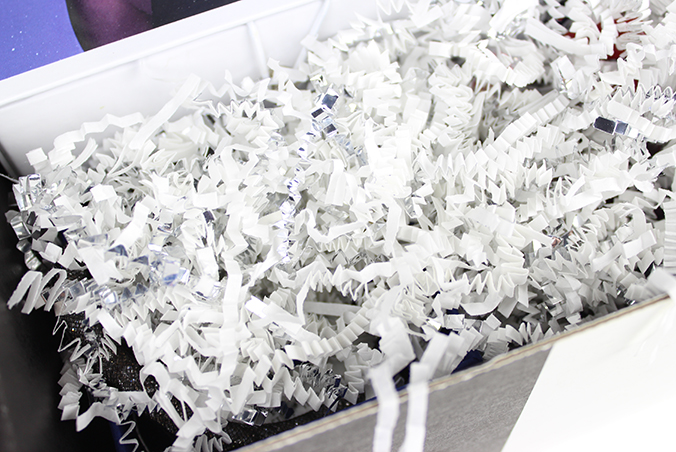 White & Silver Crinkle Cut Paper