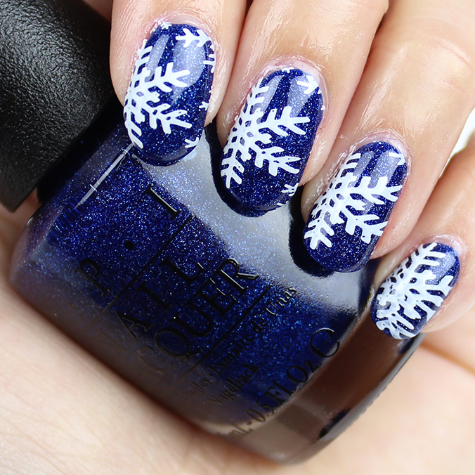 Winter Snowflakes Nail Art