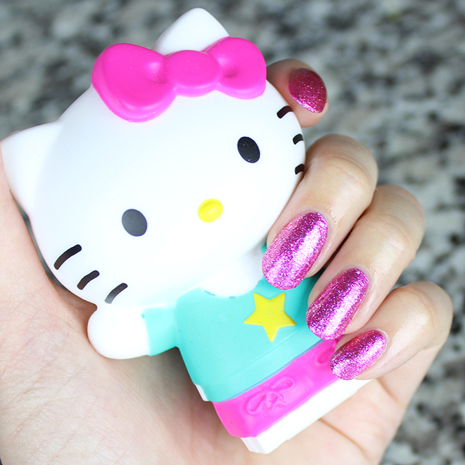 OPI Starry-Eyed for Dear Daniel Swatch Hello Kitty