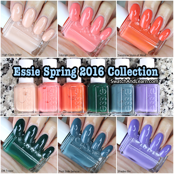 Essie Spring 2016 Collection Swatches