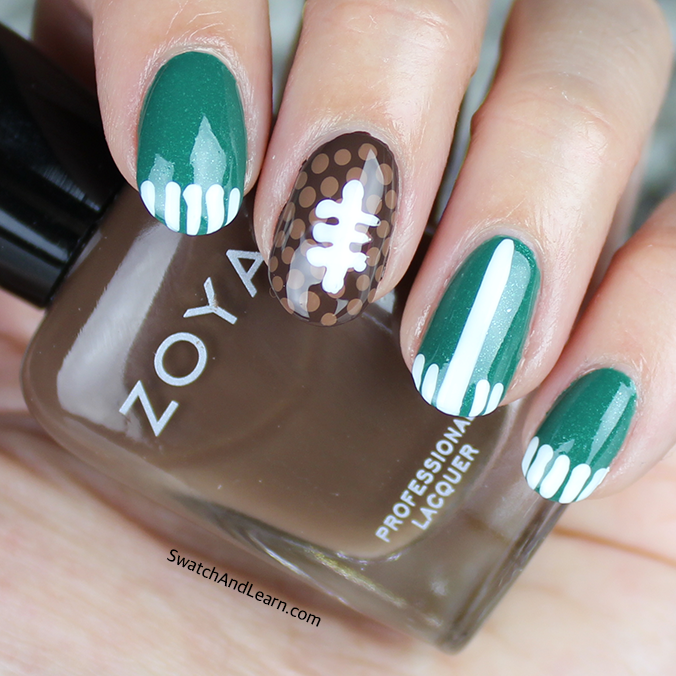 Football Nail Art Super Bowl Nail Art