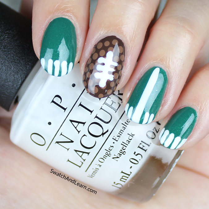Football Super Bowl Nail Art