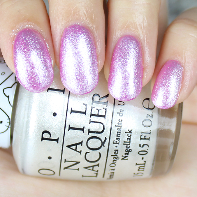 Kitty White OPI Hello Kitty Swatches