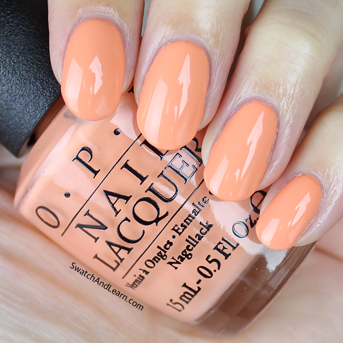 OPI Crawfishin for a Compliment Swatch OPI New Orleans Collection