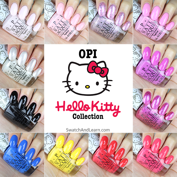 OPI Hello Kitty Collection Swatches