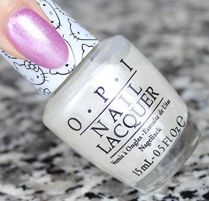 OPI Kitty White Review Swatch