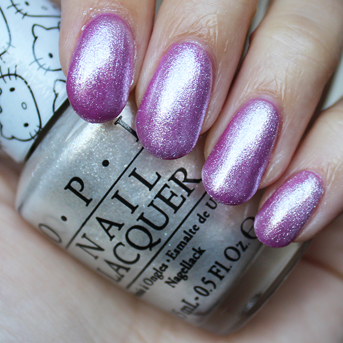 OPI Kitty White Swatch Review Swatches