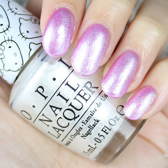 OPI Kitty White Swatches Review