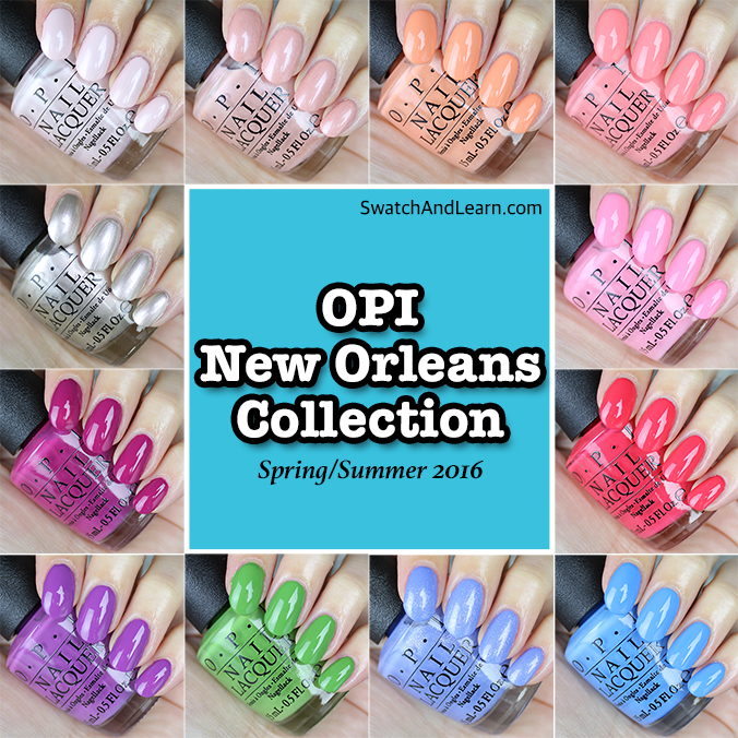 OPI New Orleans Collection Swatches