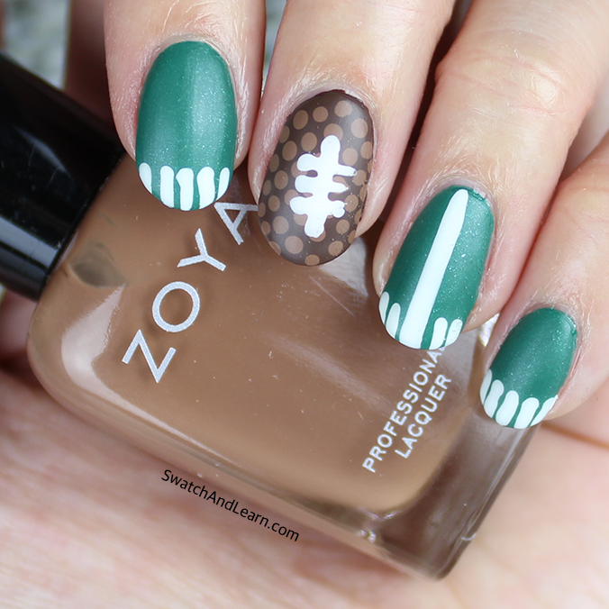 Super Bowl Nail Art Matte