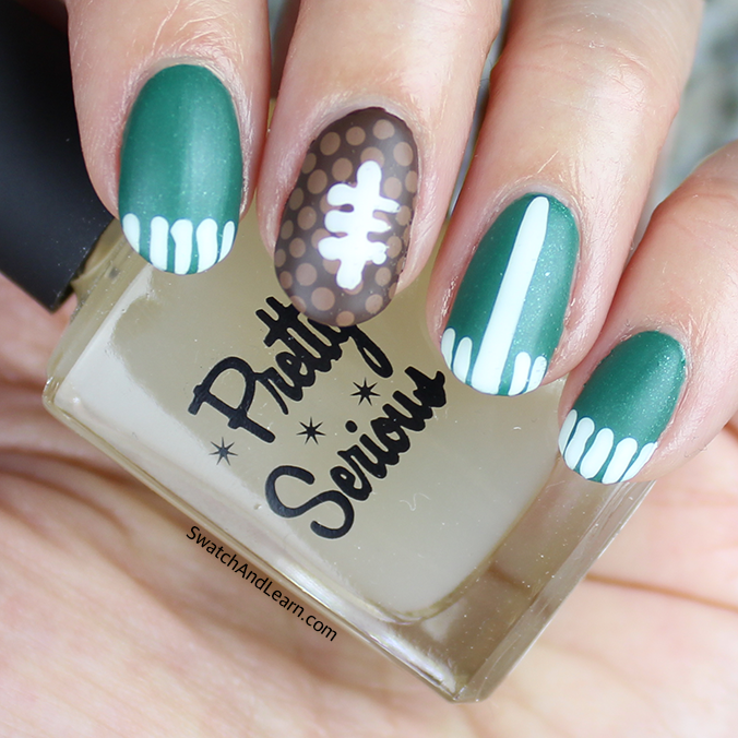 Super Bowl Nails Matte