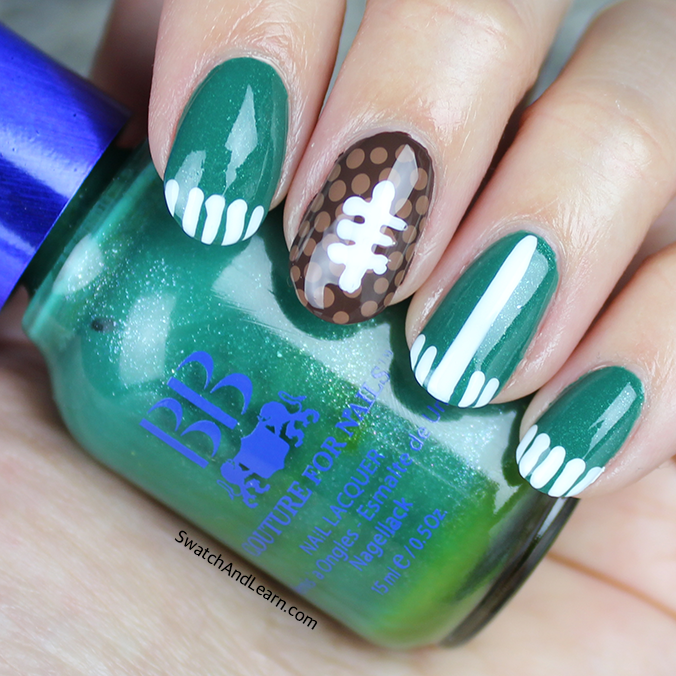 SuperBowl Football Nails Nail Art