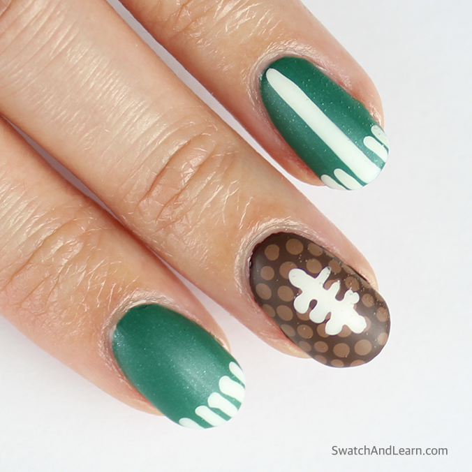 SuperBowl Nail Art