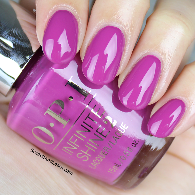 OPI Don't Provoke the Plum Swatch OPI Infinite Shine Spring 2016 Collection Swatches
