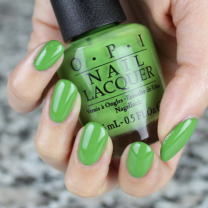 OPI I'm Sooo Swamped Swatch Review