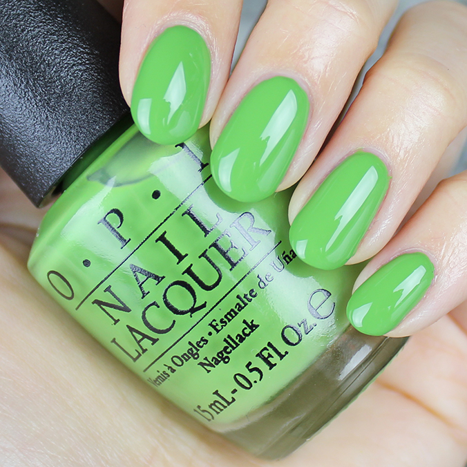 OPI I'm Sooo Swamped Swatches Review