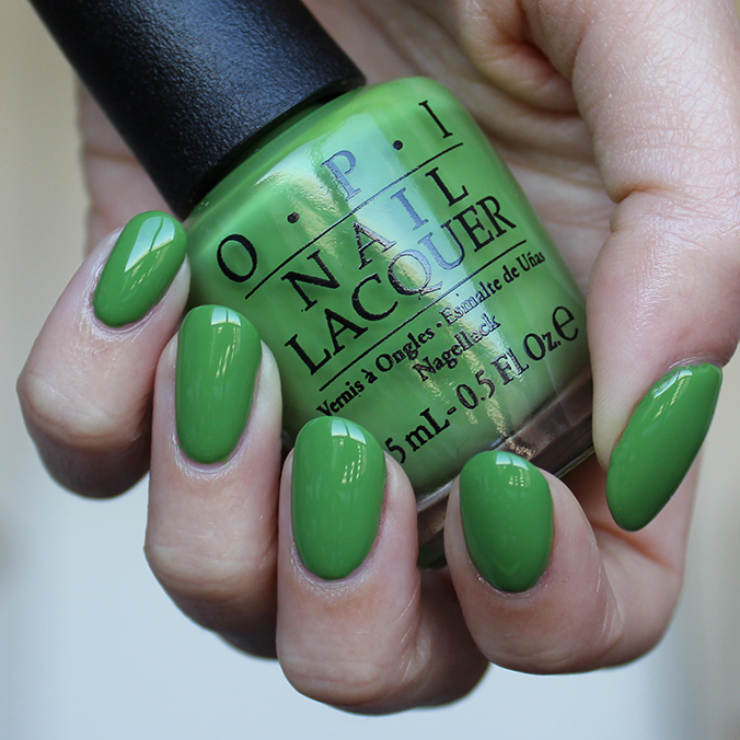 OPI I'm Sooo Swamped Swatches Swatch Review