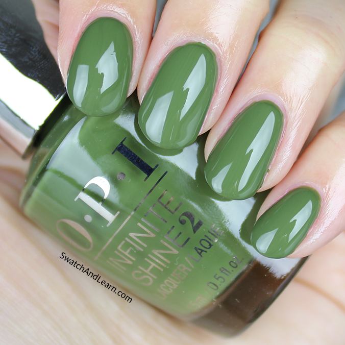OPI Olive for Green Swatch OPI Infinite Shine Spring 2016 Collection Swatches