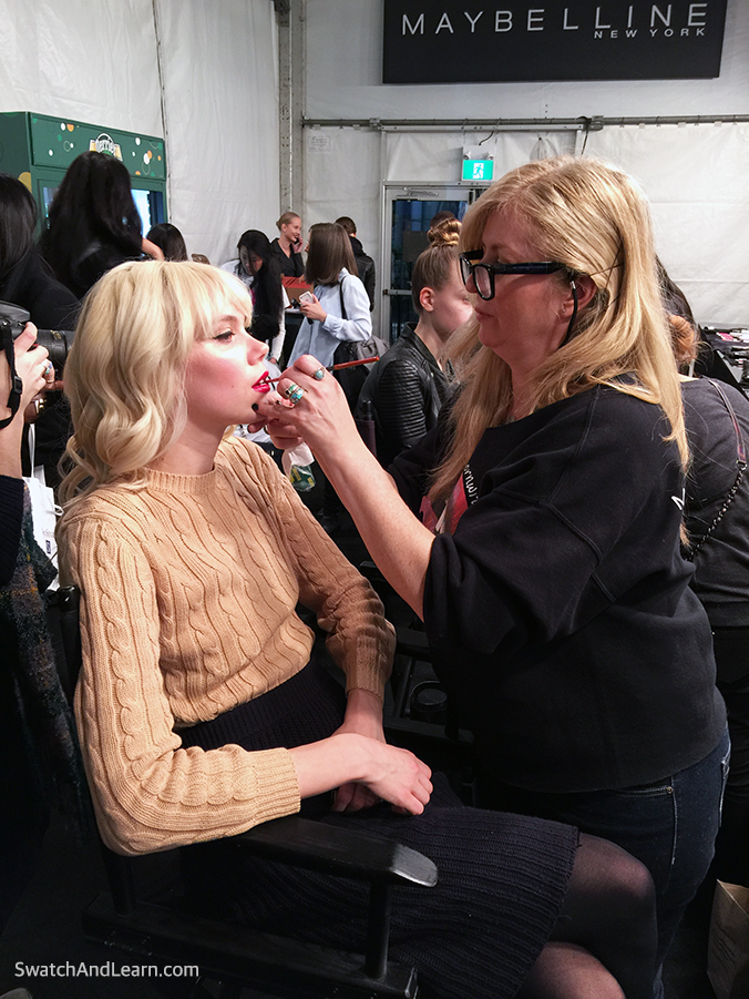 Toronto Fashion Week 2016 Model Makeup Artist