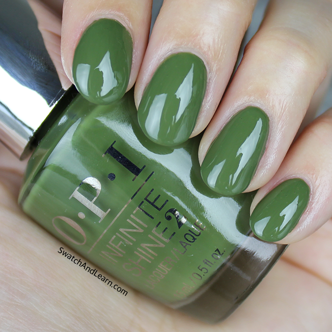 OPI Infinite Shine Olive for Green Swatch Review