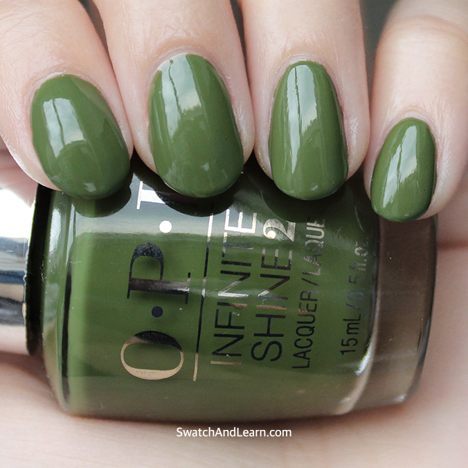 OPI Infinite Shine Olive for Green Swatch Swatches