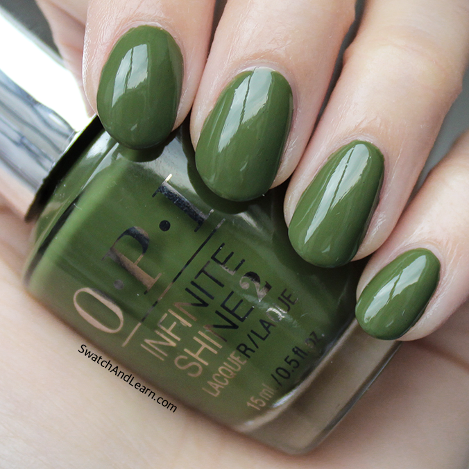 How To Make Olive Green Nail Polish: OPI Infinite Shine Olive For Green Swatches & Review