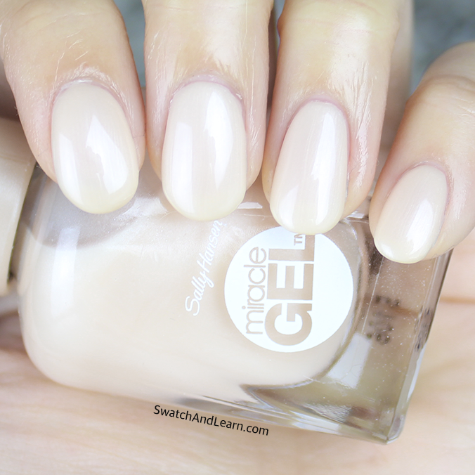 Sally Hansen Miracle Gel Cream Of The Crop Swatches Amp Review Swatch And Learn