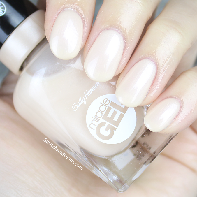 Sally Hansen Miracle Gel Cream of the Crop Swatches Review