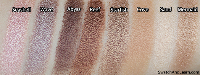Tarte Rainforest of the Sea Eyeshadow Palette Swatches